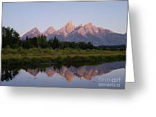 Teton Sunrise Greeting Card