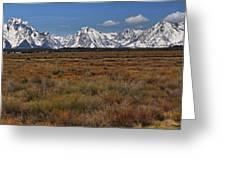 Teton Willow Flats Panorama Greeting Card