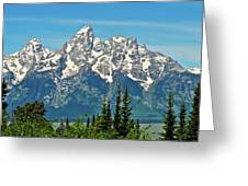 Tetons Across The Valley Greeting Card