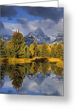 Tetons And Schwabacher Pond Greeting Card