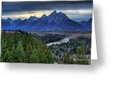 Tetons And Snake River Greeting Card