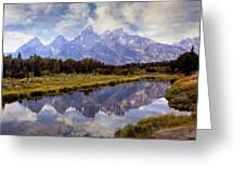 Tetons At The Landing 1 Greeting Card