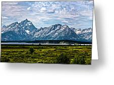 Tetons - Panorama Greeting Card