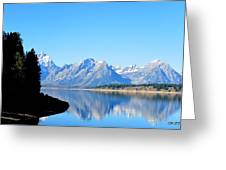 Tetons Reflection Greeting Card by Carrie Putz