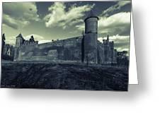 Teutonic Castle In Szymbark In Monochrome Greeting Card
