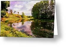Teviot River Near Kelso. Greeting Card