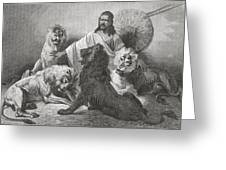 Tewodros Holding Audience, Surrounded Greeting Card
