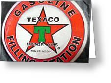 Texaco Sign Greeting Card