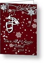 Texas Am Aggies Christmas Card Greeting Card