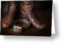 Texas Boots And Belt Buckle Greeting Card