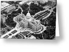 Texas Capitol Bw10 Greeting Card by Scott Kelley