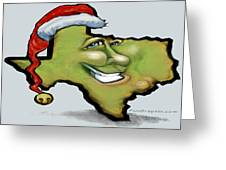 Texas Christmas Greetings Greeting Card