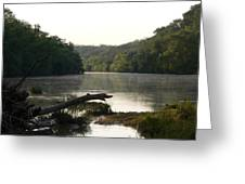 Texas Colorado River At Daybreak Greeting Card
