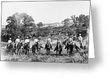 Texas: Cowboys, C1901 Greeting Card