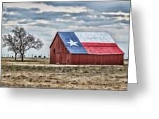 Texas Flag Barn #1 Greeting Card