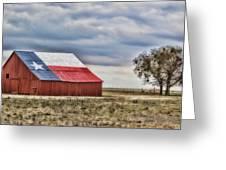 Texas Flag Barn #2 Greeting Card