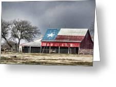 Texas Flag Barn #4 Greeting Card