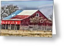 Texas Flag Barn #6 Greeting Card