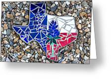 Texas Garden Stone Greeting Card
