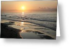 Texas Gulf Coast At Sunrise Greeting Card