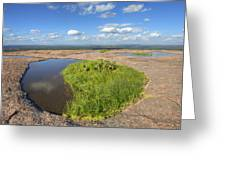 Texas Hill Country Enchanted Rock Zen Pools 2 Greeting Card