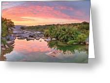 Texas Hill Country Morning Along The Pedernales 2 Greeting Card