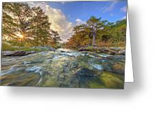 Texas Hill Country Pedernales Sunrise 1014-3 Greeting Card