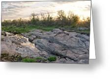 Texas Hill Country Sunrise - Llano Tx Greeting Card