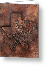 Texas Horned Toad Greeting Card
