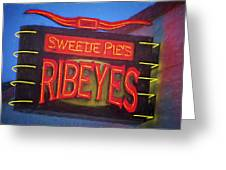 Texas Impressions Sweetie Pie's Ribeyes Greeting Card