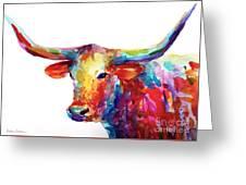 Texas Longhorn Art Greeting Card
