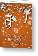 Texas Longhorns Christmas Card Greeting Card