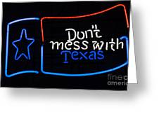Texas Neon Sign Greeting Card