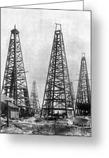 Texas: Oil Derricks, C1901 Greeting Card