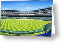 Texas Rangers Ballpark Waiting For Action Greeting Card