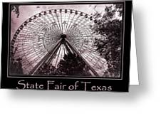 Texas Star Copper Poster Greeting Card