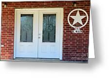 Texas Star Double Doors Greeting Card