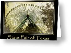Texas Star Gold Poster Greeting Card