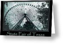 Texas Star Aqua Poster Greeting Card