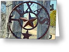 Texas Star Rustic Iron Sign Greeting Card