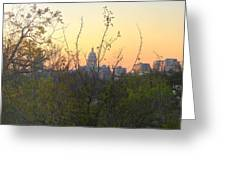 Texas State Capital From Far East Austin Greeting Card