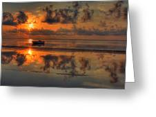 Texas Sunset Gulf Of Mexico Greeting Card by Kevin Hill