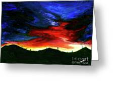 Texas Sunset I Greeting Card