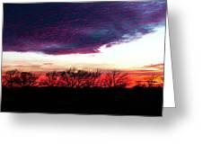 Texas Sunset Greeting Card