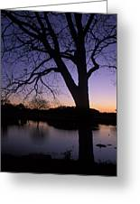 Texas Sunset On The Lake Greeting Card