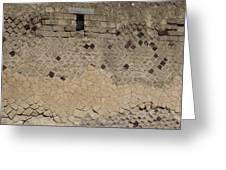 Textural Antiquities Herculaneum Wall One Greeting Card