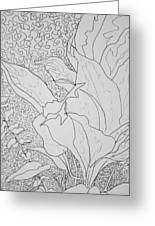 Texture And Foliage Greeting Card