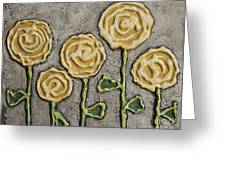 Texture Blooms In Sunshine Greeting Card