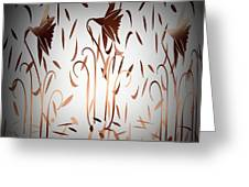 Texture Drama Dancing Flowers Greeting Card