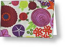 Texture Of Colored Fabric Greeting Card
